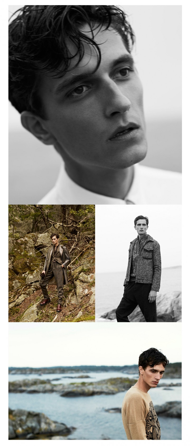 Nest model Jakob Wiechmann graces the pages of Bolero Men magazine with a new story shot by photographer Stian Foss. Venturing outdoors for mesmerizing shots with a serene mood, Jakob models fashions from brands such as Louis Vuitton.