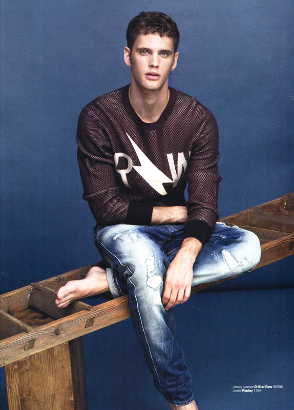 Joan Pedrola is Clad in Denim for Men's Health Spain