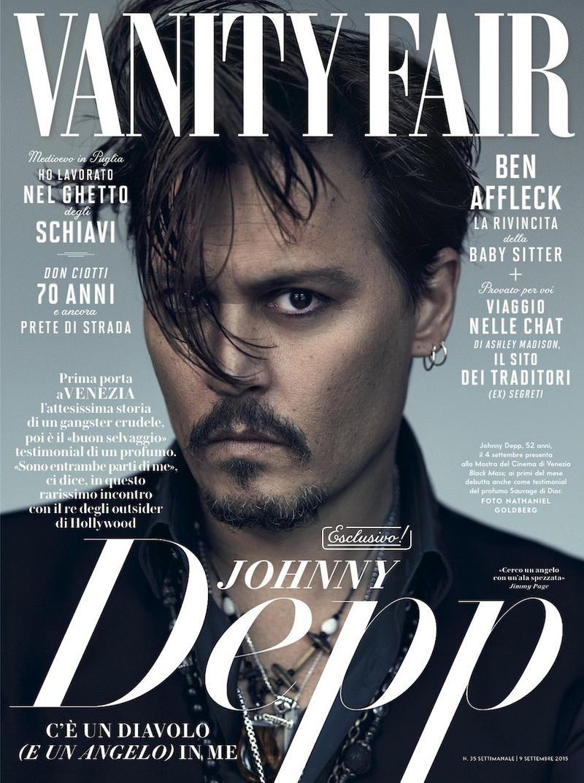 Johnny Depp Covers September 2015 Vanity Fair Italia