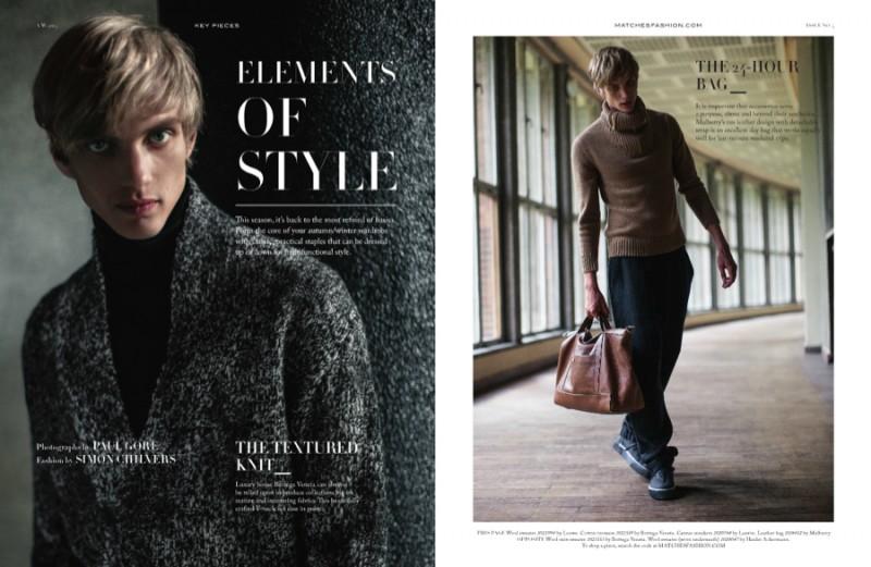 Model Paul Boche for Matches Fashion