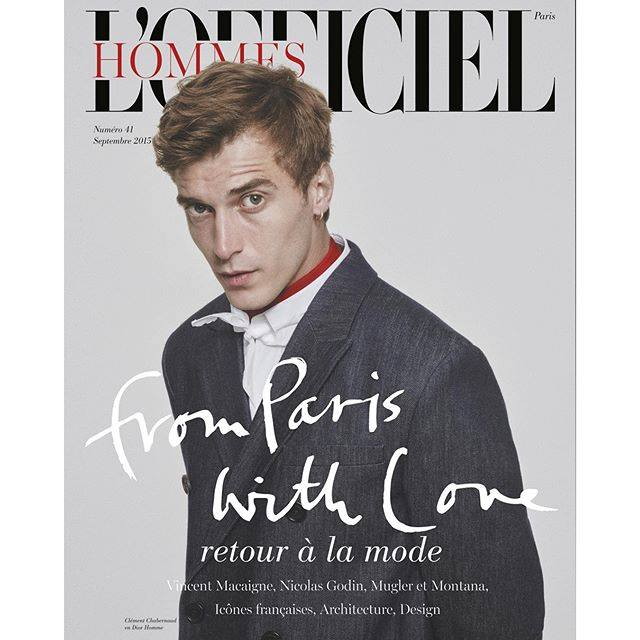 L'Officiel Hommes Paris Unveils New Masthead for September 2015 Issue