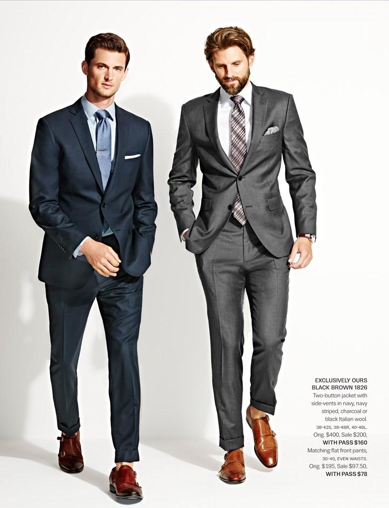 Garrett Neff + RJ Rogenski Model Suiting for Lord & Taylor