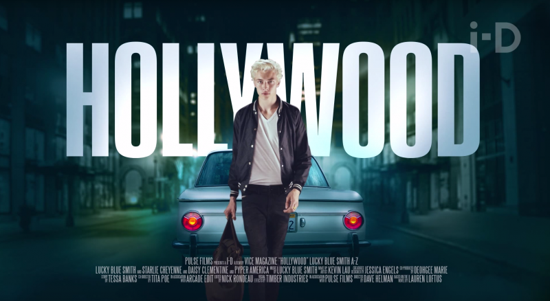 Lucky Blue Smith goes Hollywood.
