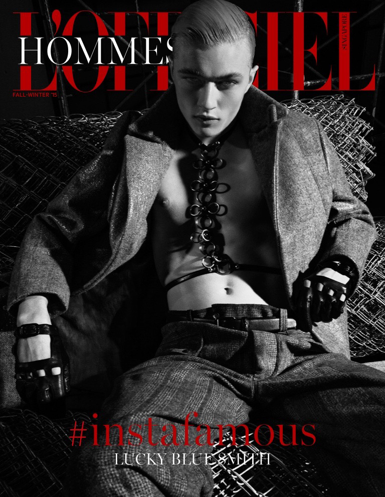Lucky Blue Smith Covers L'Officiel Hommes Singapore