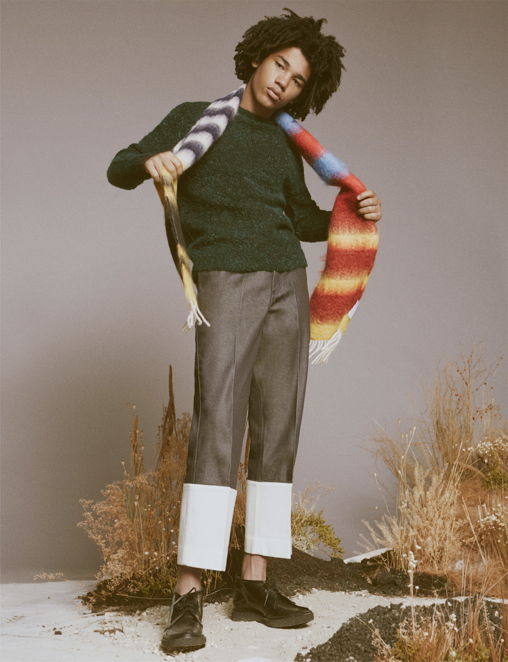 Luka Sabbat Rocks Tailored Menswear For Ssense Editorial
