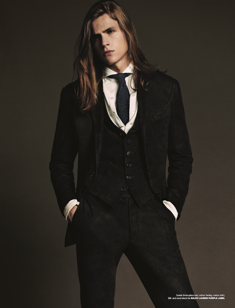 Malcolm Lindberg is a man in black as he dons a luxe three-piece suit.