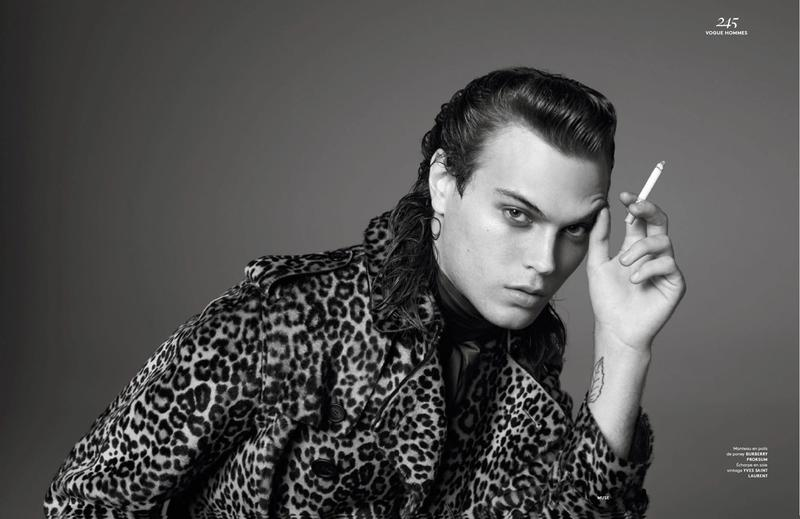 Michael Bailey Gates is Muse for Vogue Hommes Paris