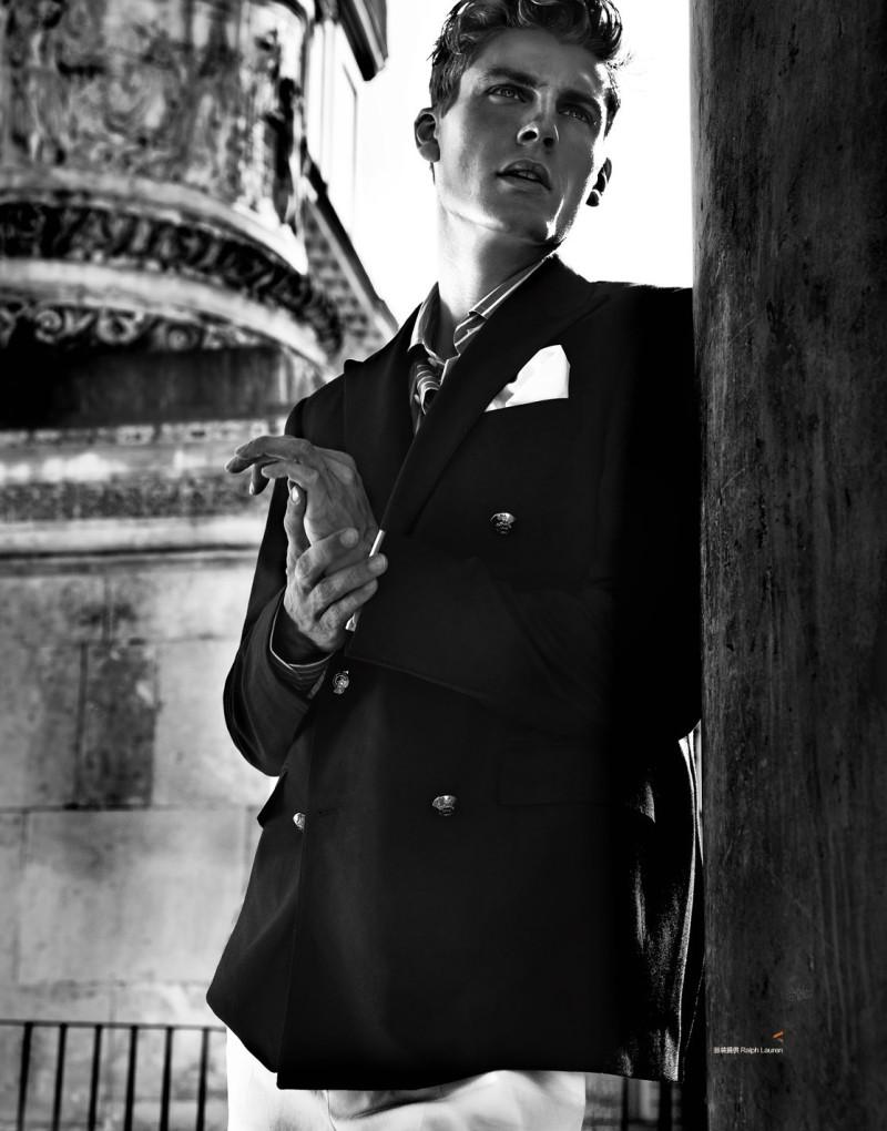 Mikkel Jensen Dons Fall Menswear for Harper's Bazaar Men's Style China