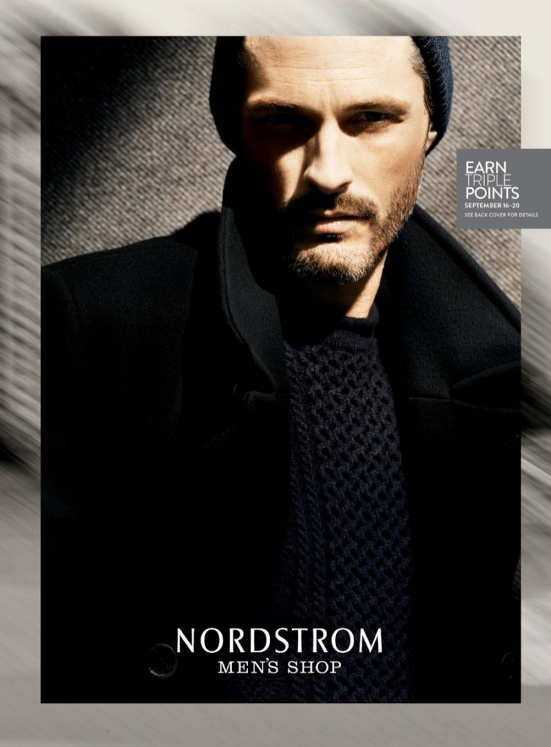 American model Ben Hill covers Nordstrom's September 2015 Men's Catalogue
