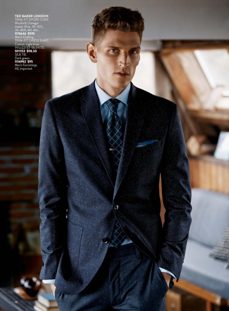 Andre Feulner models an essential classic–the tailored suit.