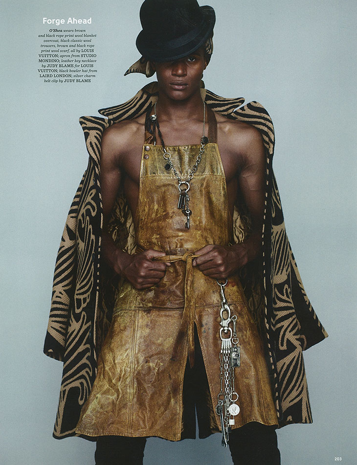 O'Shea Robertson Models Eclectic Fashions for British GQ Style