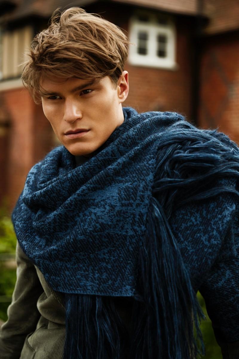 Oliver Cheshire dons a Salvatore Ferragamo scarf.