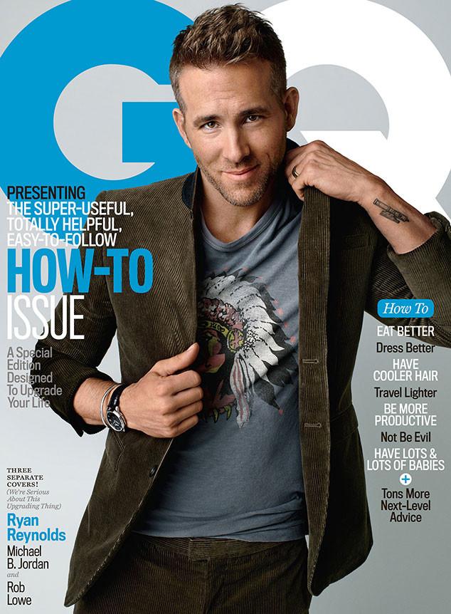 Ryan Reynolds Covers October 2015 GQ in Corduroy