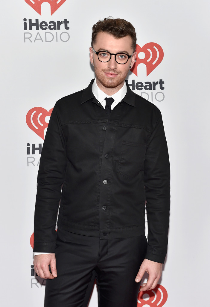 Sam Smith Has Black Style Moment at 2015 iHeartRadio Musical Festival