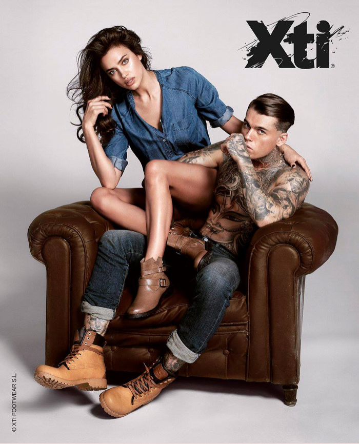 Stephen James Joins Irina Shayk for XTI Fall/Winter 2015 Campaign
