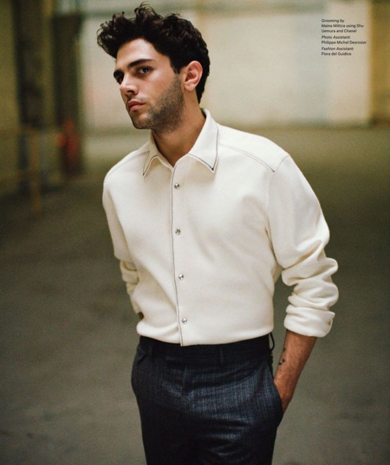 Xavier Dolan dons a look from Louis Vuitton