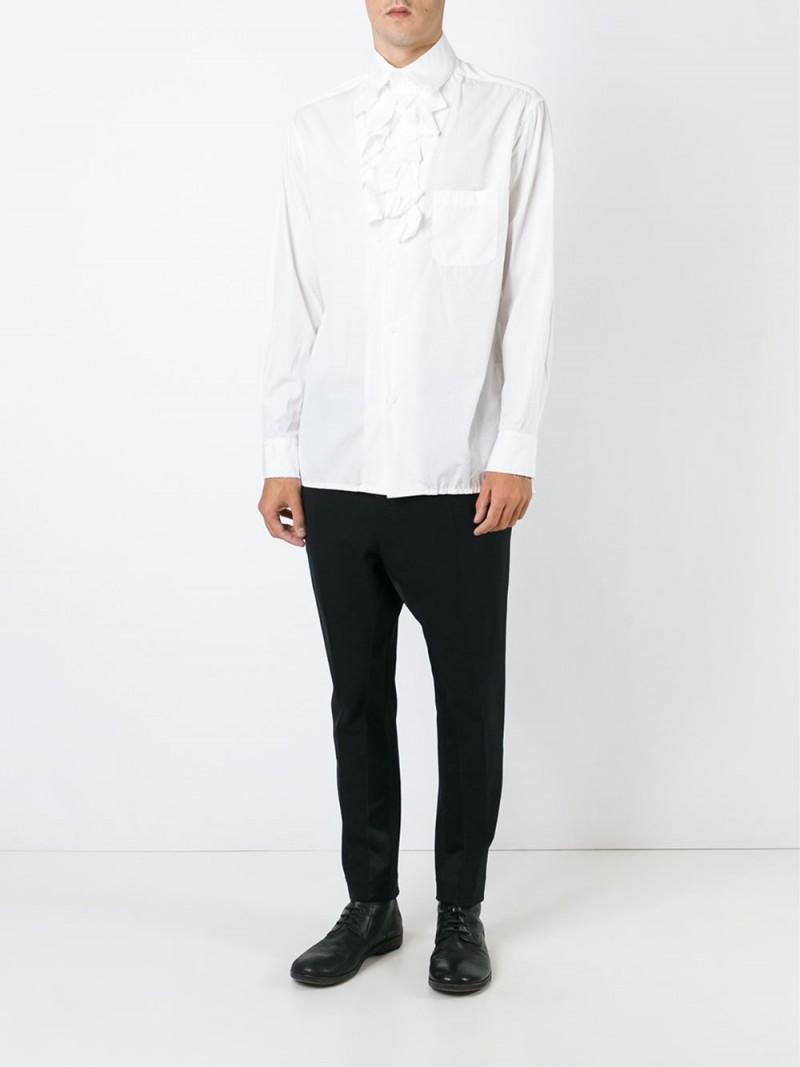 Yohji Yamamoto Ruffled Placket Shirt