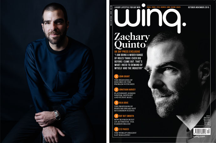 Zachary Quinto Covers October/November 2015 Winq