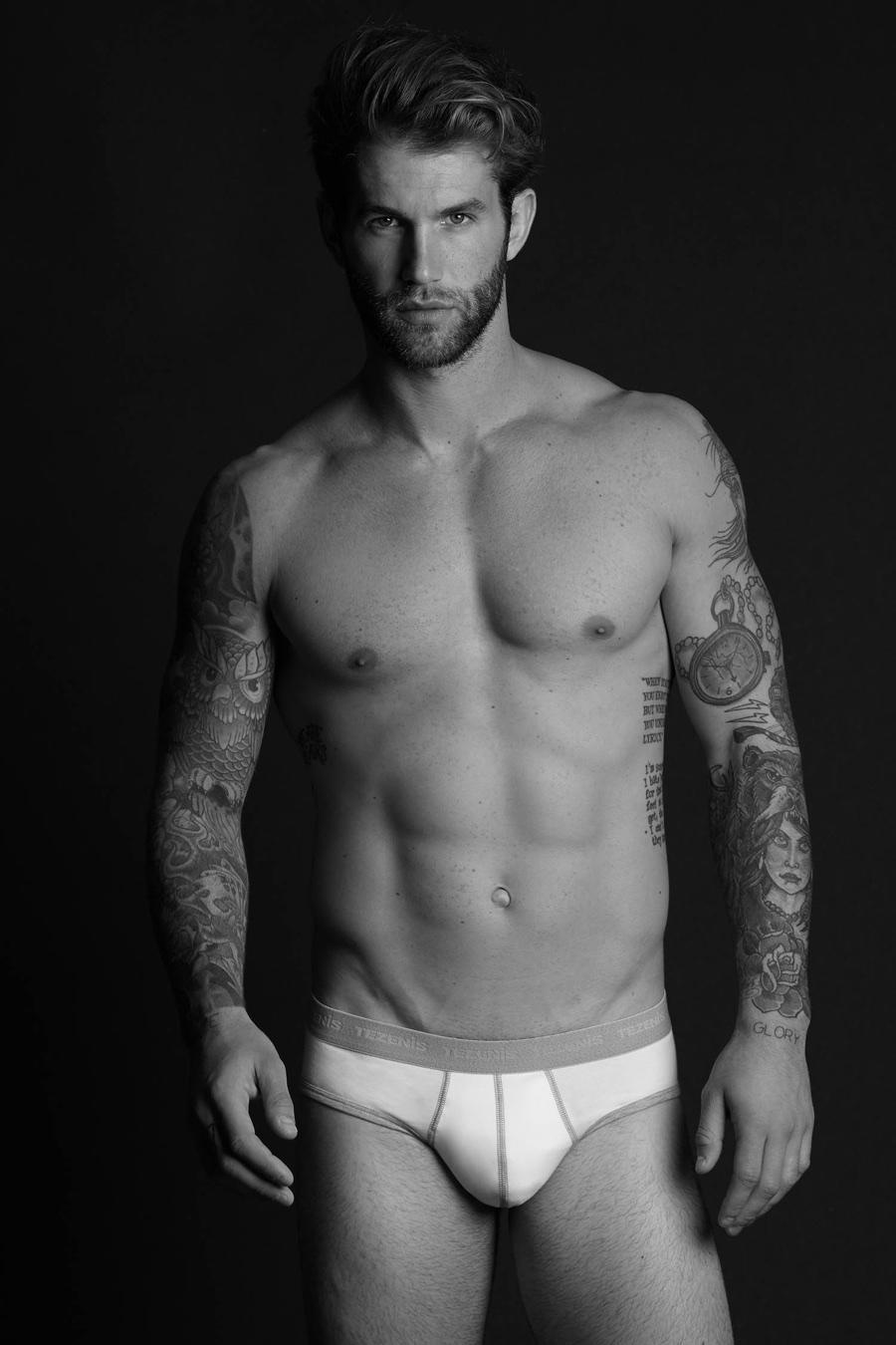 André Hamann Models Underwear for Tezenis Shoot