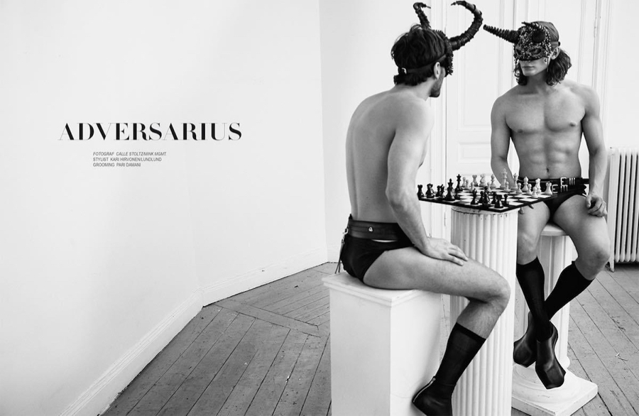 Oscar Spendrup + Alexander Bullock Face Off for Boy Magazine