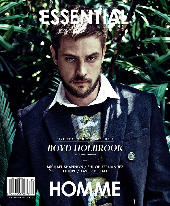Boyd Holbrook photographed by Kevin Sinclair for Essential Homme with styling by Terry Lu.