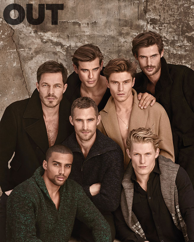 Paul Sculfor, Matt Trethe, Oliver Cheshire, Jacey Elthalion, Remy Clerima, Will Chalker and Harry Goodwins for Out magazine