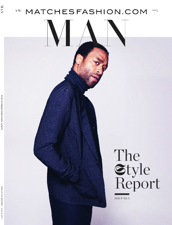 Chiwetel Ejiofor covers the fall-winter 2015 magazine of Matches Fashion