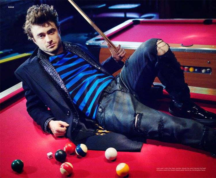 Daniel Radcliffe Connects With Nylon Talks Long Hair In Victor