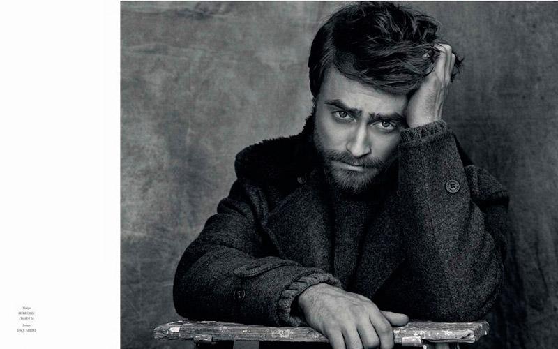 Daniel Radcliffe poses for a black & white image for Icon El Pais.