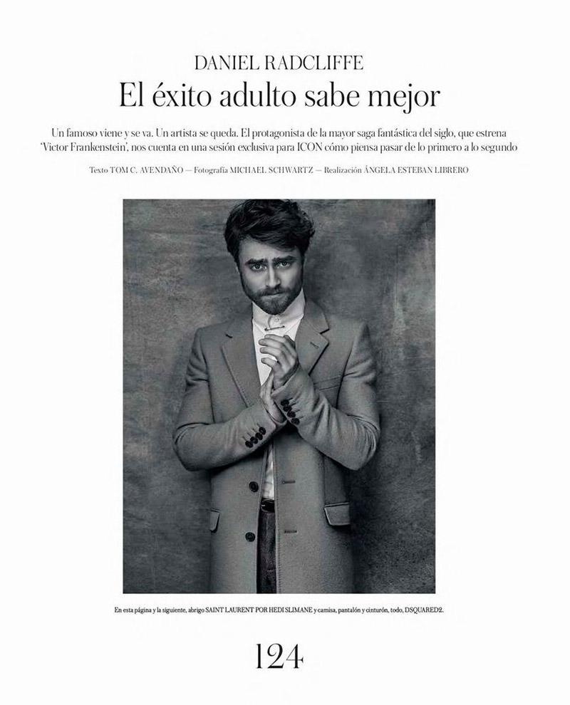 Daniel Radcliffe photographed for Icon El Pais.