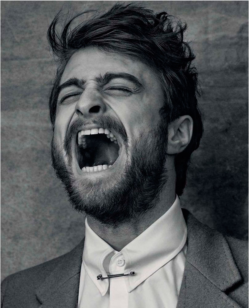 Daniel Radcliffe is animated for quite the picture.