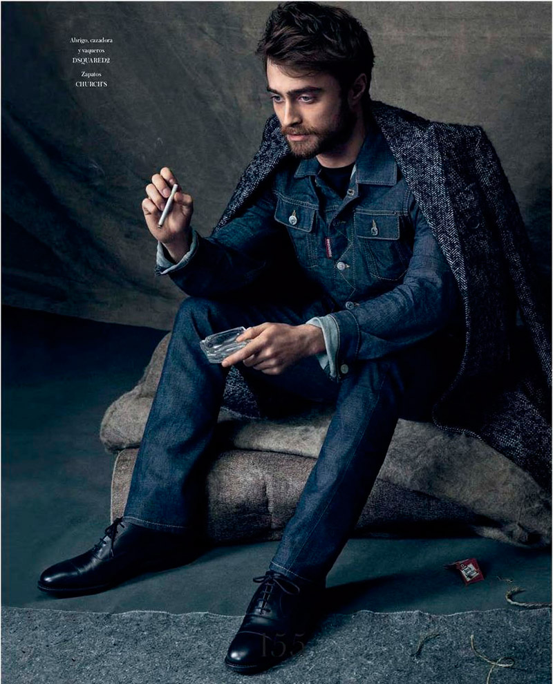 Daniel Radcliffe doubles down on denim for Icon.