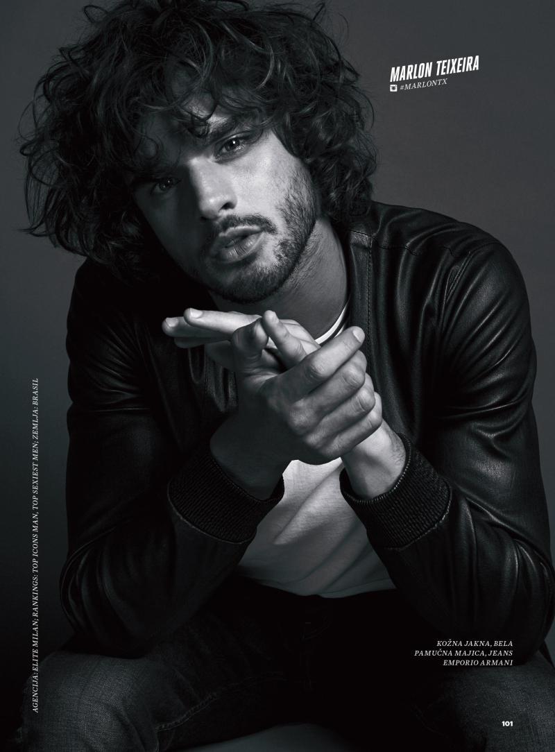 Marlon Teixeira, Clark Bockelman + More Models Rock Leather for Elle Serbia
