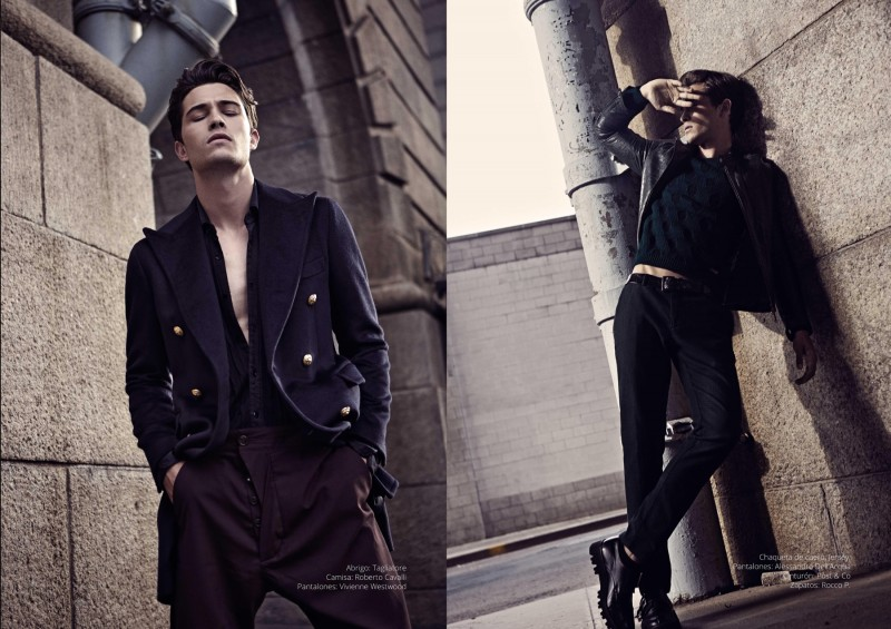 Francisco Lachowski heads outdoors for the Risbel shoot.