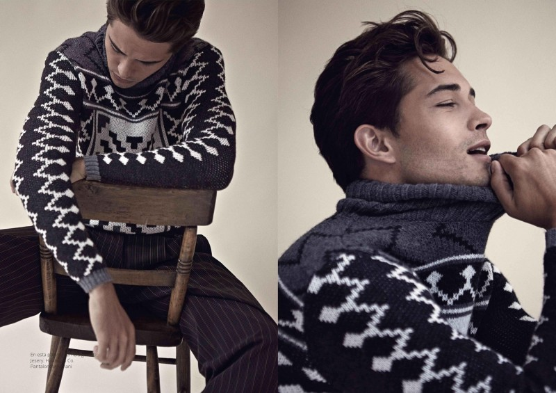 Francisco Lachowski dons a wintery sweater from Havana & Co.