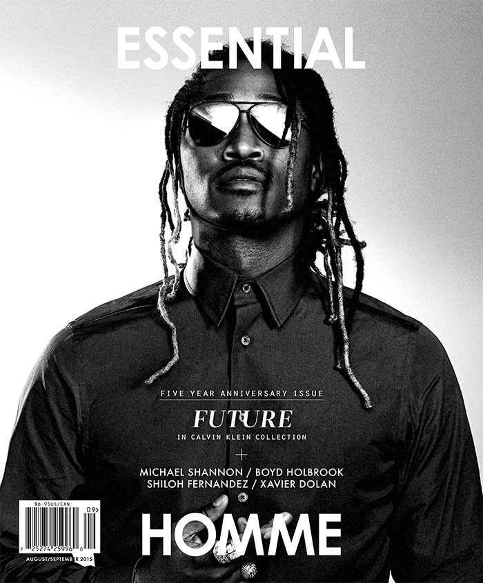Future photographed by Sebastian Sabal-Bruce for Essential Homme with styling by Terry Lu.