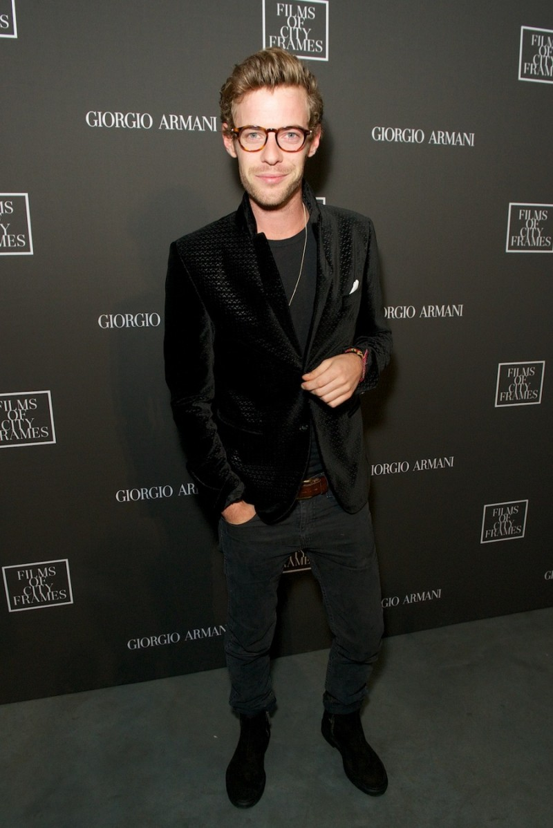 f896e76d967 Harry Treadaway photographed at Giorgio Armani s Films of City Frames  premiere.