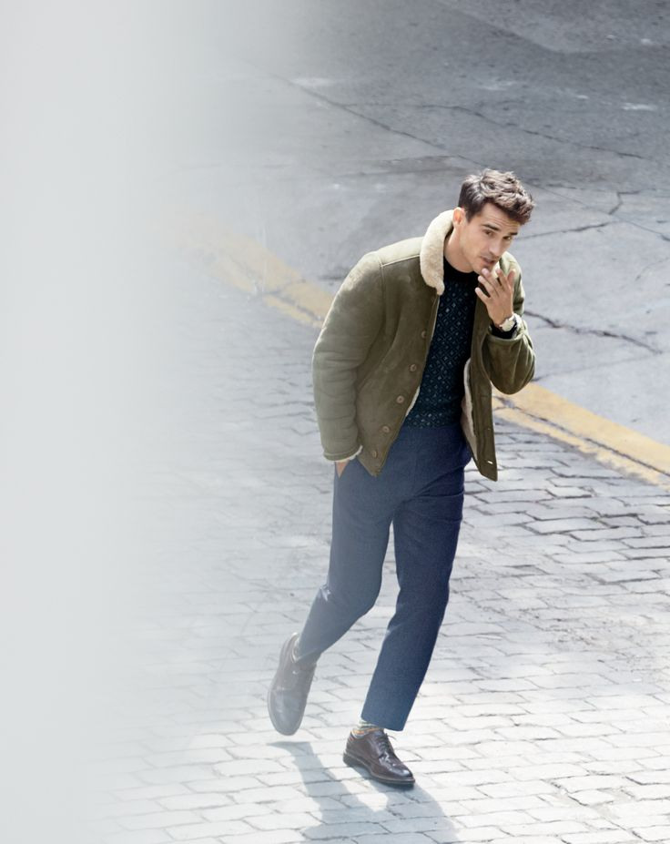 5dfc1bc6598ce Arthur Kulkov gets into the shearling bomber jacket trend with J.Crew s  take on the
