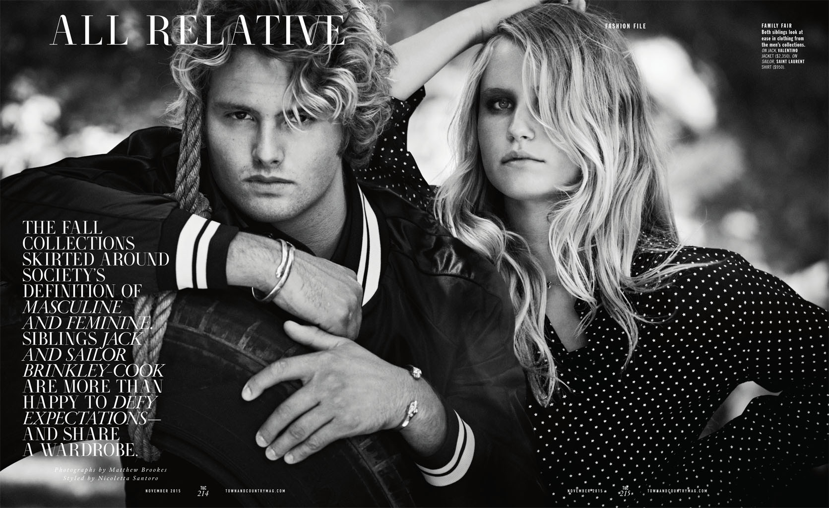 Christie Brinkley's Children Model in Town & Country Fashion Editorial