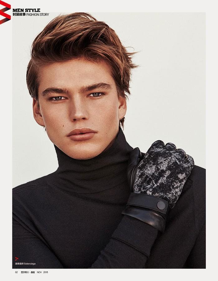 Jordan Barrett for Harper's Bazaar China