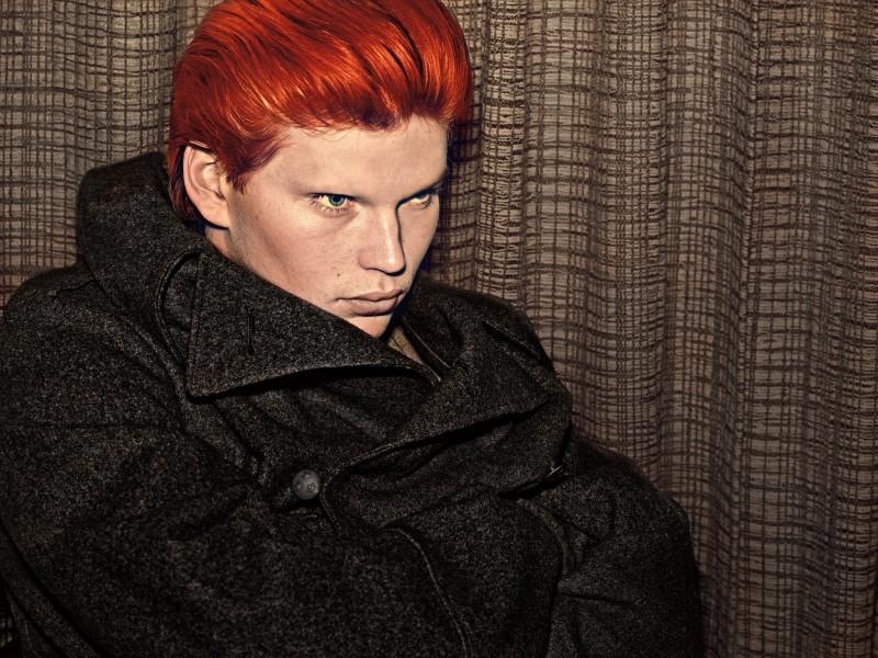 Jordan Barrett Goes Blond, Red + More for Steven Klein VMAN Shoot