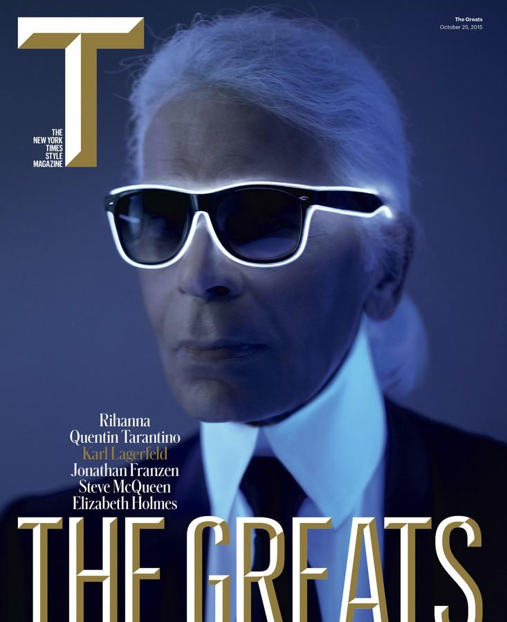 Karl Lagerfeld Covers The New York Times Style Magazine Talks Life