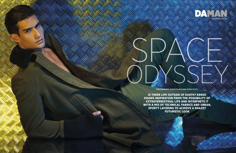 Kaylan Morgan wears Kenzo for Da Man fashion editorial