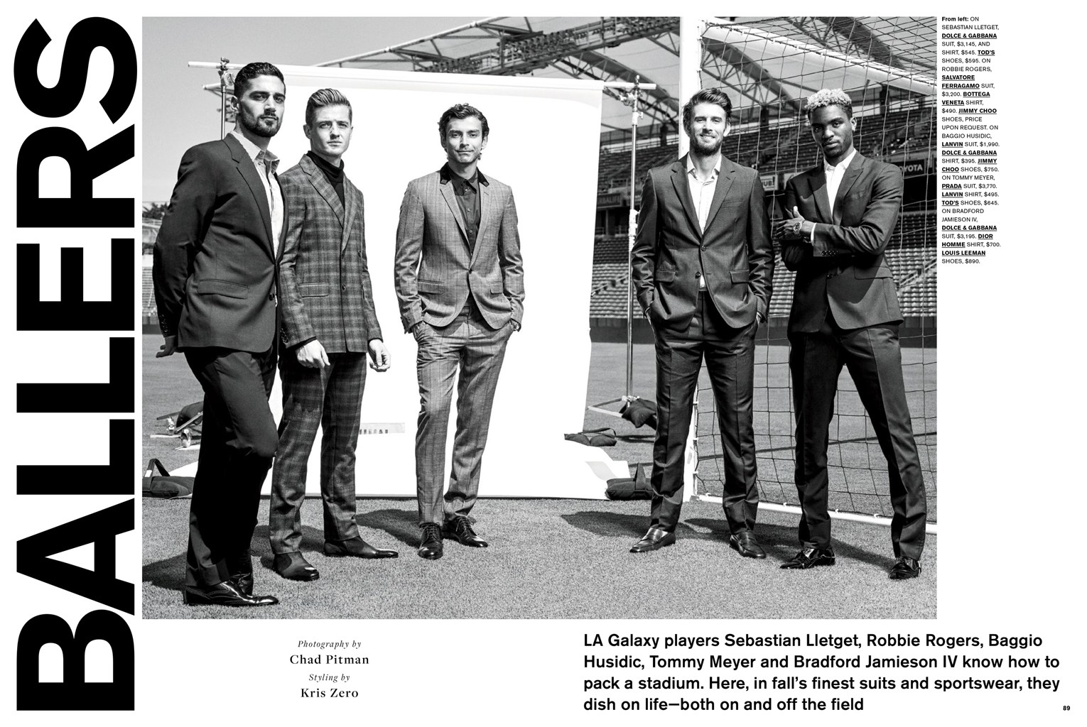 LA Galaxy Players Star in C For Men Shoot