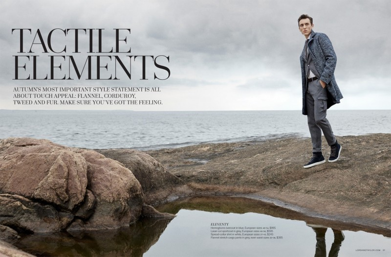 Model Thomas Gibbons styled by Christopher Campbell for Lord & Taylor