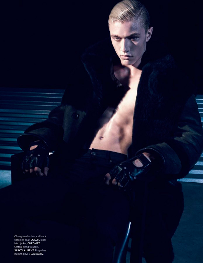 Lucky Blue Smith Goes Edgy for L'Officiel Hommes Singapore