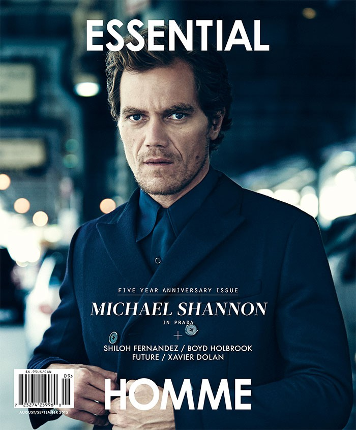 Michael Shannon photographed by Kevin Sinclair for Essential Homme with styling by Andrew Holden.