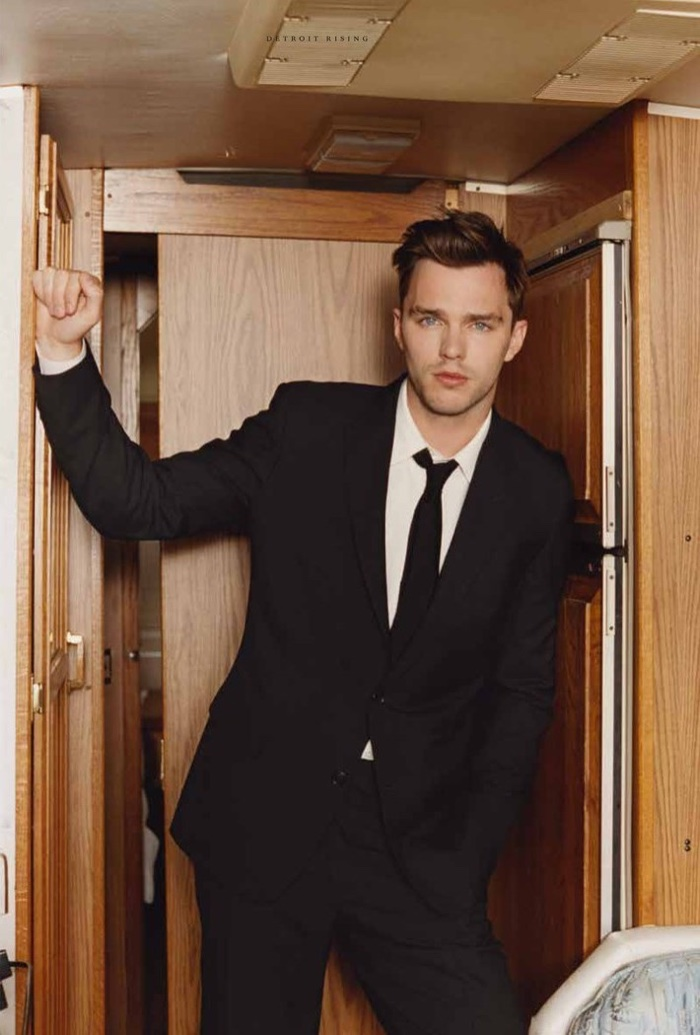 Nicholas Hoult is Front & Center for Hero Photo Shoot