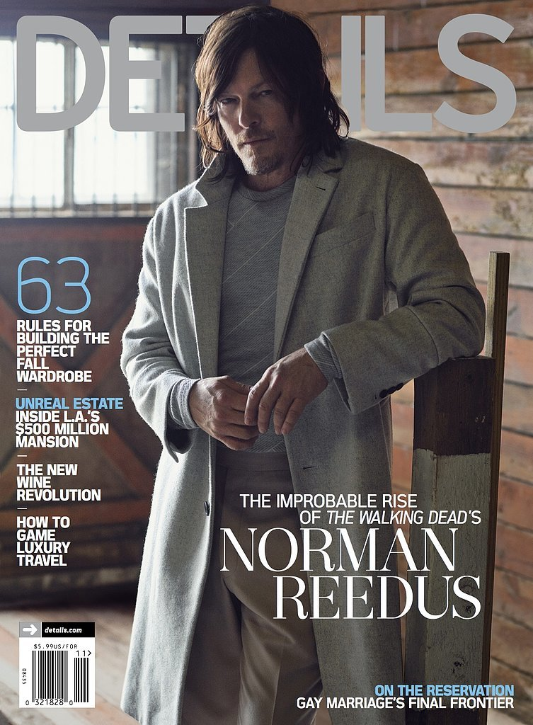 Norman Reedus Covers November 2015 Details, Talks Fame