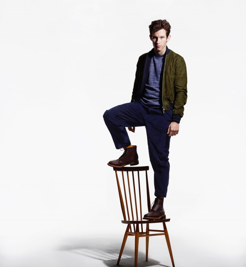 Callum Turner photographed by Rankin for Oliver Spencer Fall/Winter 2015